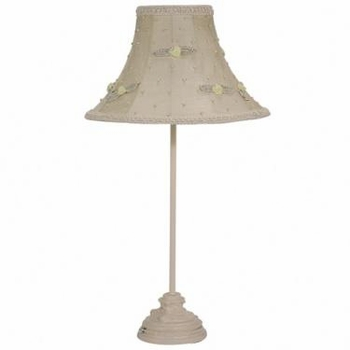 ivory leaf scroll medium lamp base