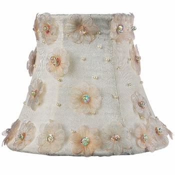 ivory petal flower chandelier shade