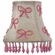 ivory pink pearl bows chandelier shade