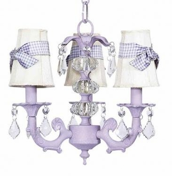 ivory sconce shade-lavender check sash