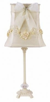 ivory scroll glass lamp-bouquet shade
