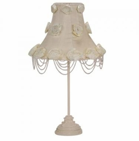 ivory scroll lamp - ivory rose swag shade