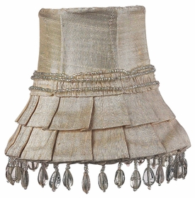 ivory skirt chandelier shade