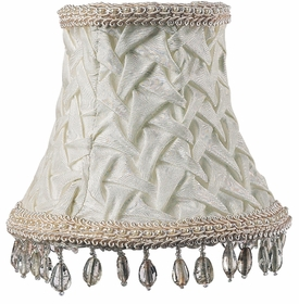 ivory smock chandelier shade