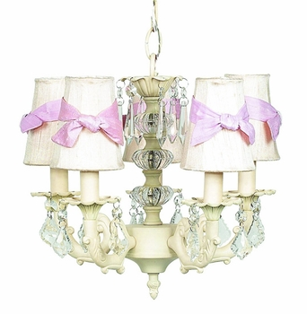 ivory stacked glass ball chandelier with ivory shades