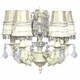 ivory stacked glass ball chandelier with skirt dangle shades