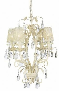 ivory tulle flower sconce shade