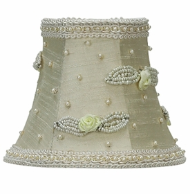 ivory with ivory rosebud chandelier shade