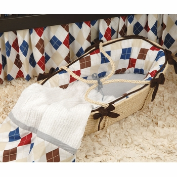 ivy league blue moses basket - unavailable