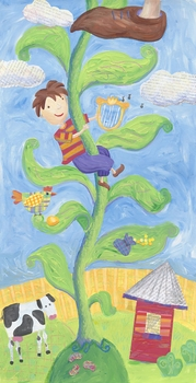 jack and the beanstalk wall art
