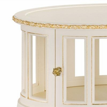 jacqueline table - linen with gold gilding