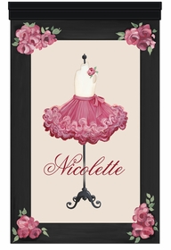 jadore fleurs tutu rose rouge personalized wall hanging