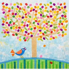 jellybean tree wall art