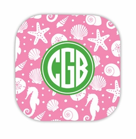 jetties bubblegum hardback rounded coaster<br>(set of 4)