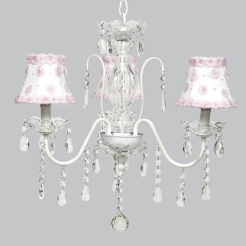 jewel chandelier - petal power shades