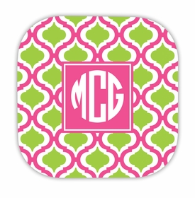 kate raspberry & lime hardback rounded coaster<br>(set of 4)
