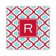 kate red & teal square paper coaster<br>set of 50