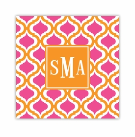 kate tangerine & raspberry square paper coaster<br>set of 50