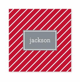 kent stripe cherry square paper coaster<br>set of 50