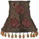 khaki beaded embroidery chandelier shade