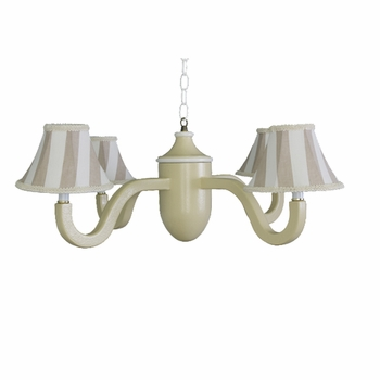 khaki stripe four arm acorn chandelier