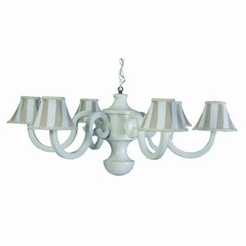 khaki stripe large scroll chandelier