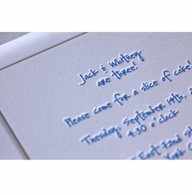 kid's parties invitations - jack and whitney