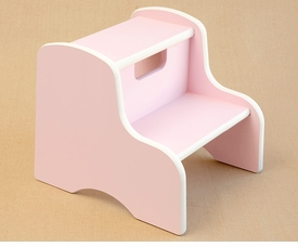 kids hand painted step stool - two colors