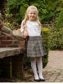 kilted tweed wool skirt