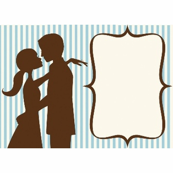 kiss me handsome invite ( set of 10)