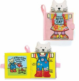 kitty kat dressing up book by jellycat