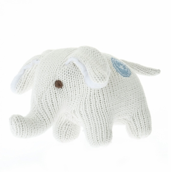knit elephant rattle