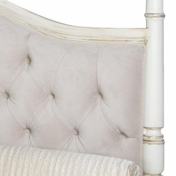 kristina queen bed - tufted upholstered