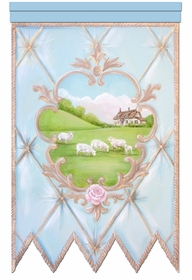 la belle campagne bleu fran�ais personalized wall hanging