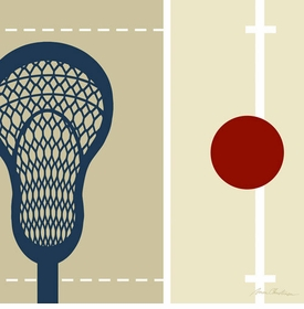 lacrosse athlete wall art