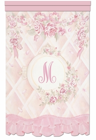 lady catherine's roses chiffon petal personalized wall hanging