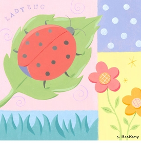ladybug polka dot wall art by steve haskamp