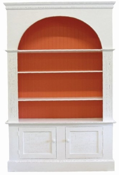 large arch bookcase