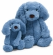 large chambray puppy by jelly cat