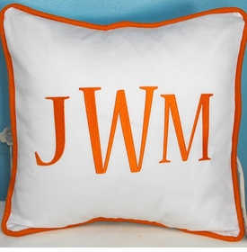 large monogram 16 x 16 pillow