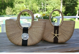 large shoulder basket bag