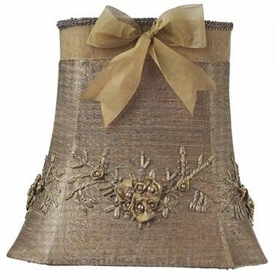 large taupe floral bouquet shade