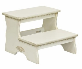 large two step step stool - versailles finish & moulding