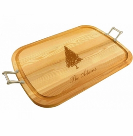 large wooden fir tree tray