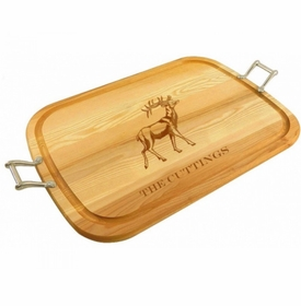 large wooden stag tray