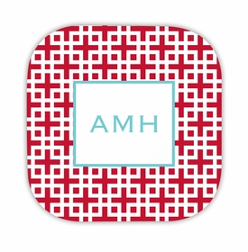 lattice cherry hardback rounded coaster<br>(set of 4)