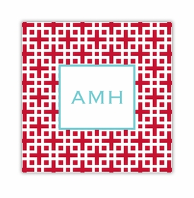 lattice cherry square paper coaster<br>set of 50
