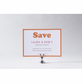 laura & rob save the date card