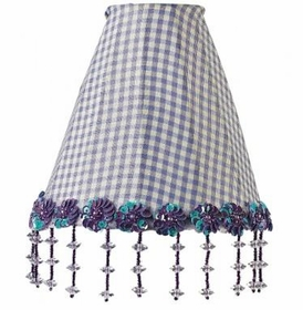 lavender check pearl night light