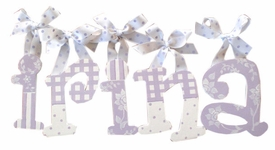 lavender dot wall letters